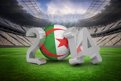 Composite image of algeria world cup 2014 Royalty Free Stock Photography