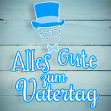 Composite image of alles gute zum vatertag Royalty Free Stock Photos