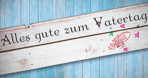 Composite image of alles gute zum vatertag Royalty Free Stock Photo
