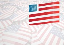 Composite image of the american flag. Digital composite of composite image of the american flag Stock Photos