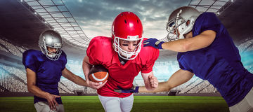 Composite image of american football players 3D Royalty Free Stock Photos