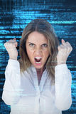 Composite image of  angry yelling businesswoman Stock Image