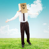 Composite image of anonymous businessman with arms out Royalty Free Stock Photo