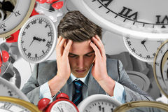Composite image of anxious businessman Royalty Free Stock Image