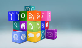 Composite image of app cube Royalty Free Stock Photography