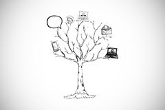 Composite image of application tree doodle Stock Photos