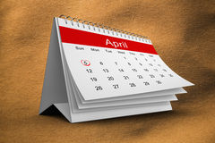 Composite image of april calendar Royalty Free Stock Images
