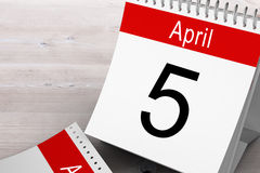 Composite image of april calendar Stock Photography