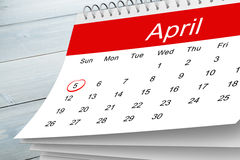 Composite image of april calendar Stock Photos