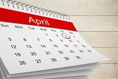 Composite image of april calendar Stock Photos