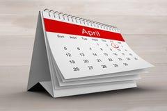 Composite image of april calendar Stock Images
