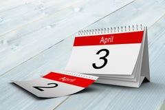 Composite image of april calendar Stock Photo