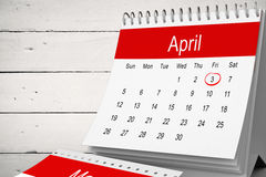 Composite image of april calendar Royalty Free Stock Photography