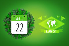 Composite image of april 22nd Royalty Free Stock Photography