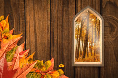 Composite image of arch shape window Stock Photography