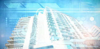 Composite image of architectural building against clear sky Royalty Free Stock Image