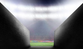 Composite image of arena tunnel Royalty Free Stock Photos
