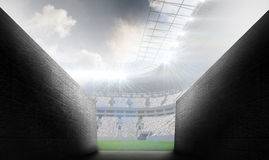 Composite image of arena tunnel Stock Photography