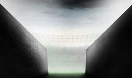 Composite image of arena tunnel Royalty Free Stock Images