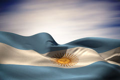 Composite image of argentina flag waving Stock Photo