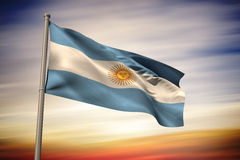 Composite image of argentina national flag Royalty Free Stock Photography