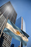 Composite image of argentina national flag Royalty Free Stock Image