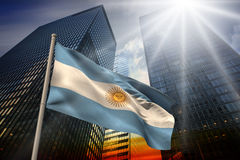 Composite image of argentina national flag Royalty Free Stock Images