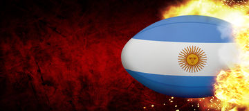 Composite image of argentina rugby ball Stock Photos