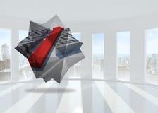 Composite image of arrow through maze on abstract screen Royalty Free Stock Photos