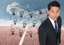 Composite image of asian businessman Stock Image