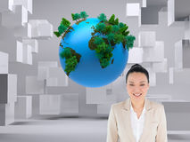 Composite image of asian businesswoman Stock Photo