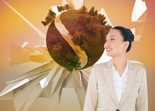 Composite image of asian businesswoman Royalty Free Stock Images