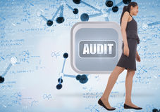 Composite image of asian businesswoman walking Stock Photo
