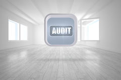 Composite image of audit banner on abstract screen Stock Images