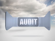 Composite image of audit banner on abstract screen Stock Image
