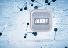 Composite image of audit banner on abstract screen Stock Photography