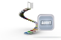 Composite image of audit banner on abstract screen Royalty Free Stock Photo