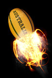 Composite image of australia rugby ball Stock Photos