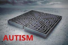Composite image of autism Stock Photo