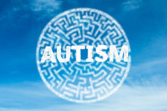Composite image of autism Stock Photography