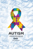 Composite image of autism awareness day Royalty Free Stock Image