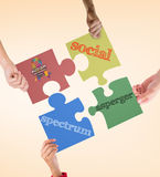 Composite image of autism awareness day Royalty Free Stock Photos