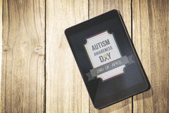 Composite image of autism awareness day Stock Photography