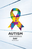 Composite image of autism awareness day Stock Image