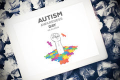 Composite image of autism awareness day Stock Photo