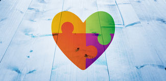 Composite image of autism awareness heart Stock Photos
