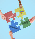 Composite image of autism awareness heart Royalty Free Stock Photo