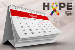 Composite image of autism awareness month Stock Image