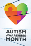 Composite image of autism awareness month Royalty Free Stock Image