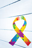Composite image of autism awareness ribbon Stock Images
